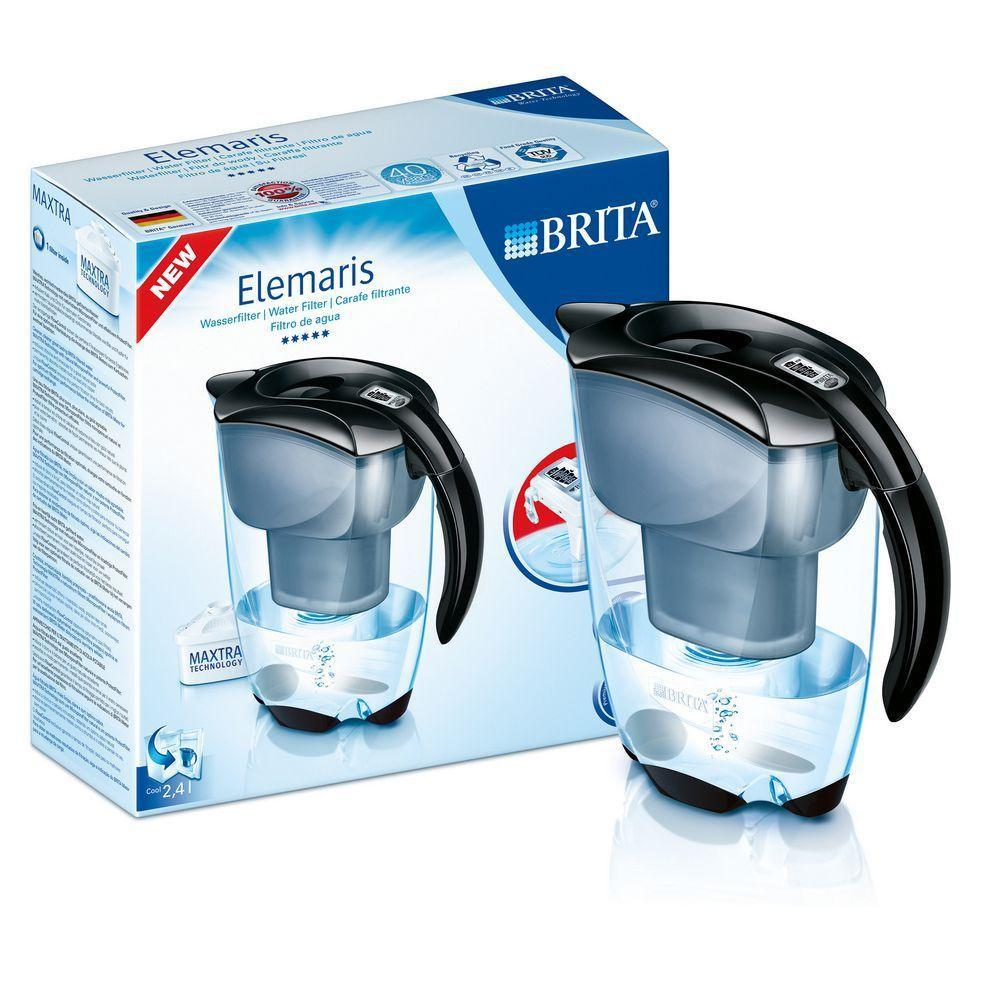 Brita Elemaris Cool Zwart Waterfilterkan 2.4liter