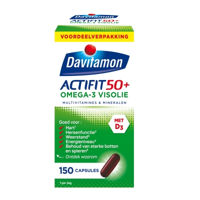 Davitamon Actifit 50 Plus Omega Vis