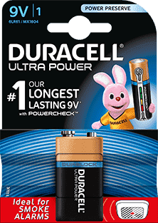 Duracell Ultra Power Batterijen - 9V Alkaline - 1 stuk