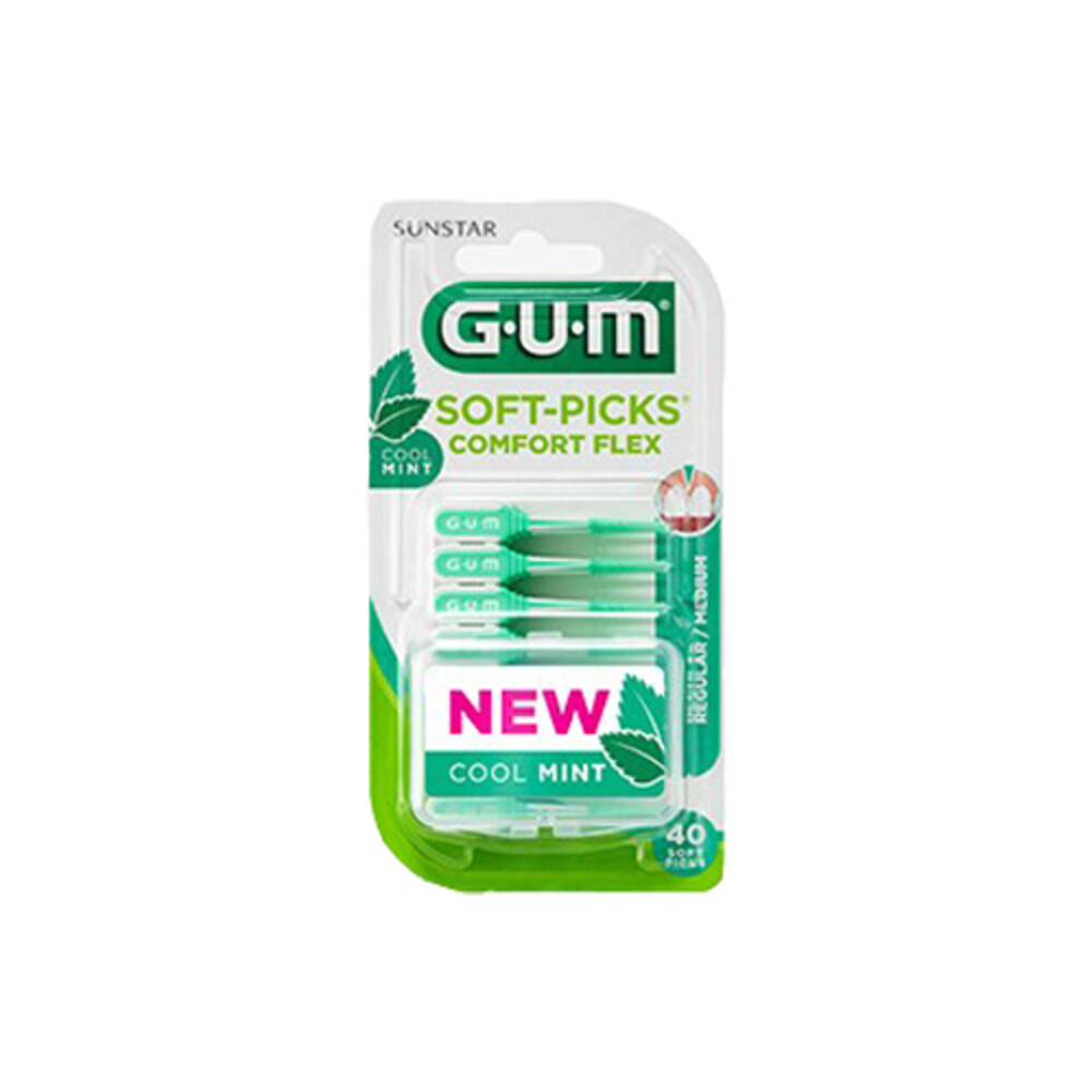 GUM Soft-Picks Comfort Flex Mint Medium 40 stuks