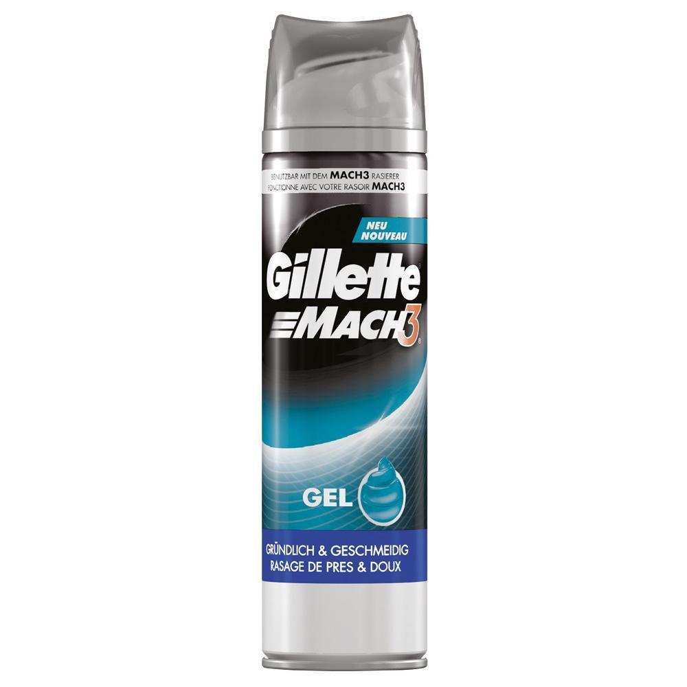 Gillette Mach 3 Scheergel Close & Smooth 200 ml