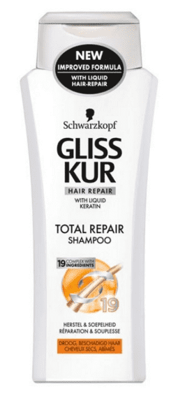 Gliss Kur Shampoo - Total Repair 250 ml.