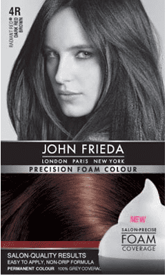 John Frieda Foam Color - Dark Red Brown 4R