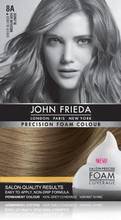 John Frieda Foam Color - Medium Ash Blonde 8A