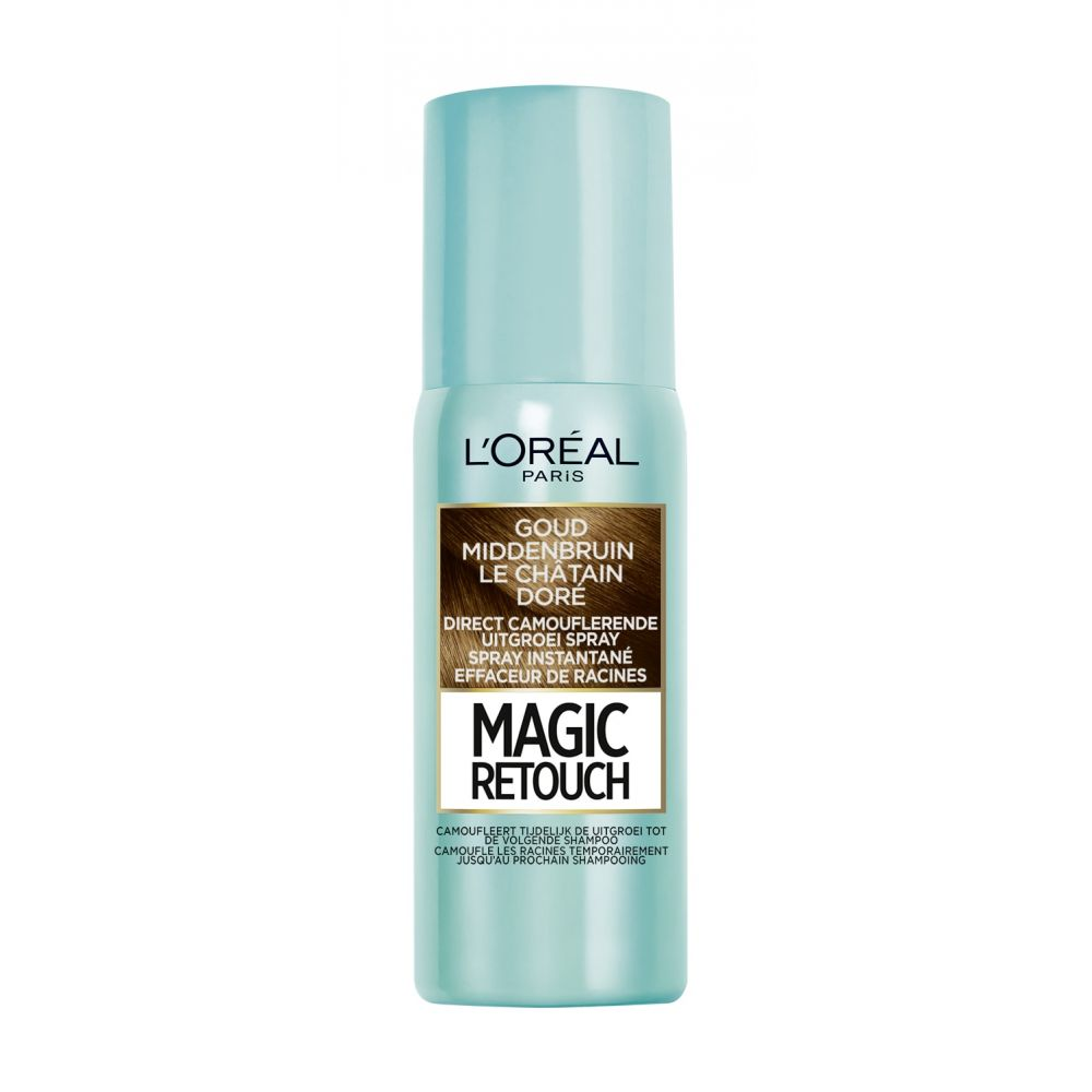 L\Oréal Magic Retouch Goud Middenbruin 75 ml
