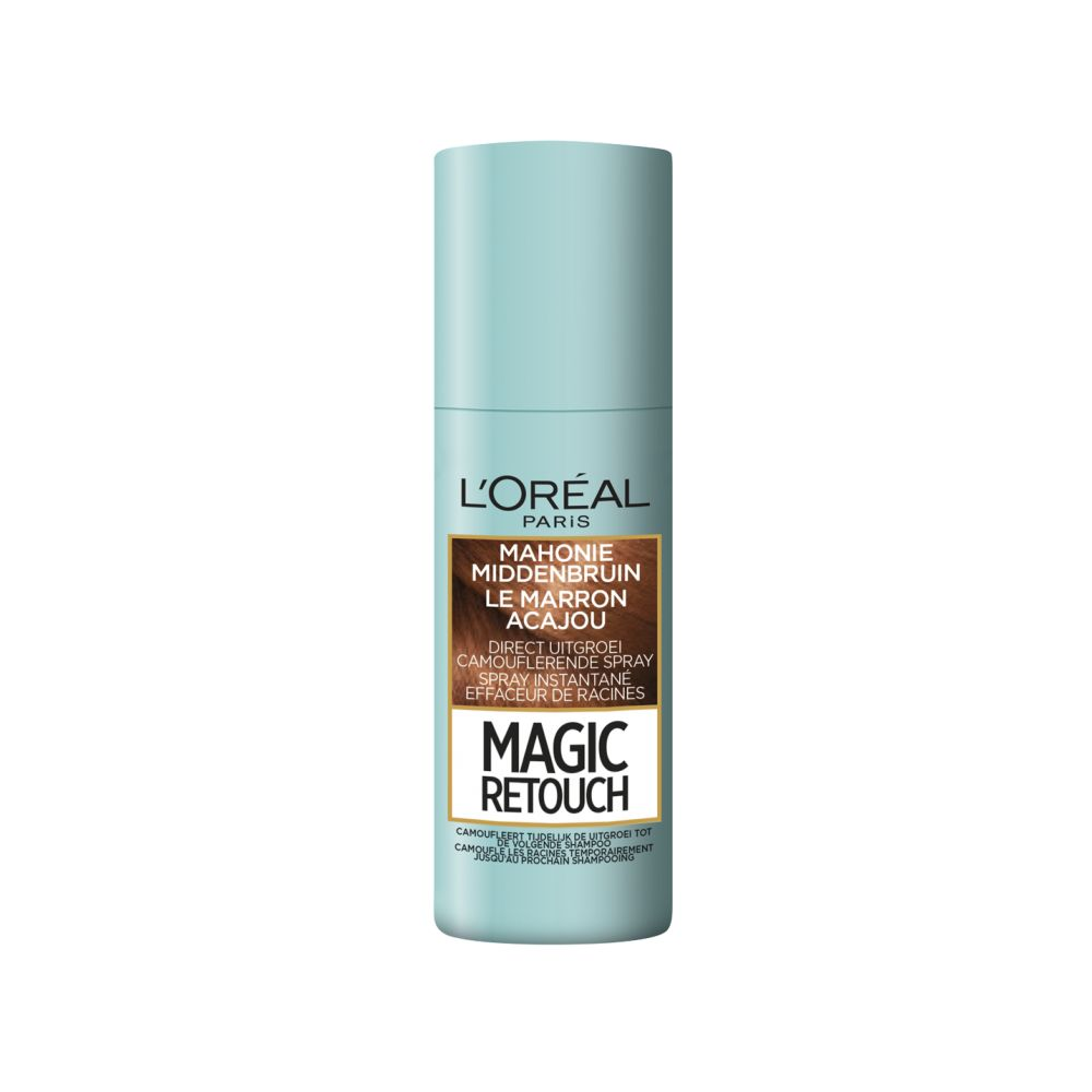 L\Oréal Magic Retouch Uitgroeispray Mahonie Middenbruin 75 ml