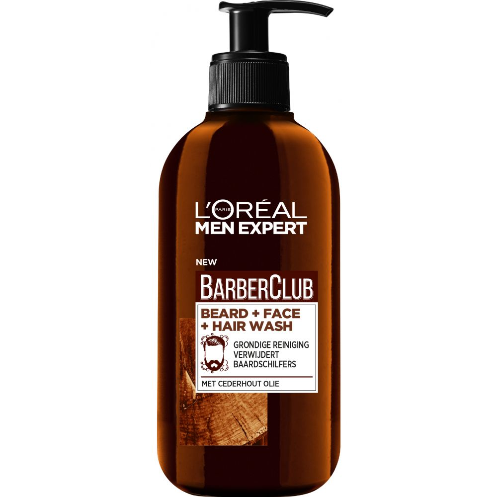 L\Oréal Men Expert BarberClub Baard Gezicht&Haar 3-in-1 Wash 200 ml