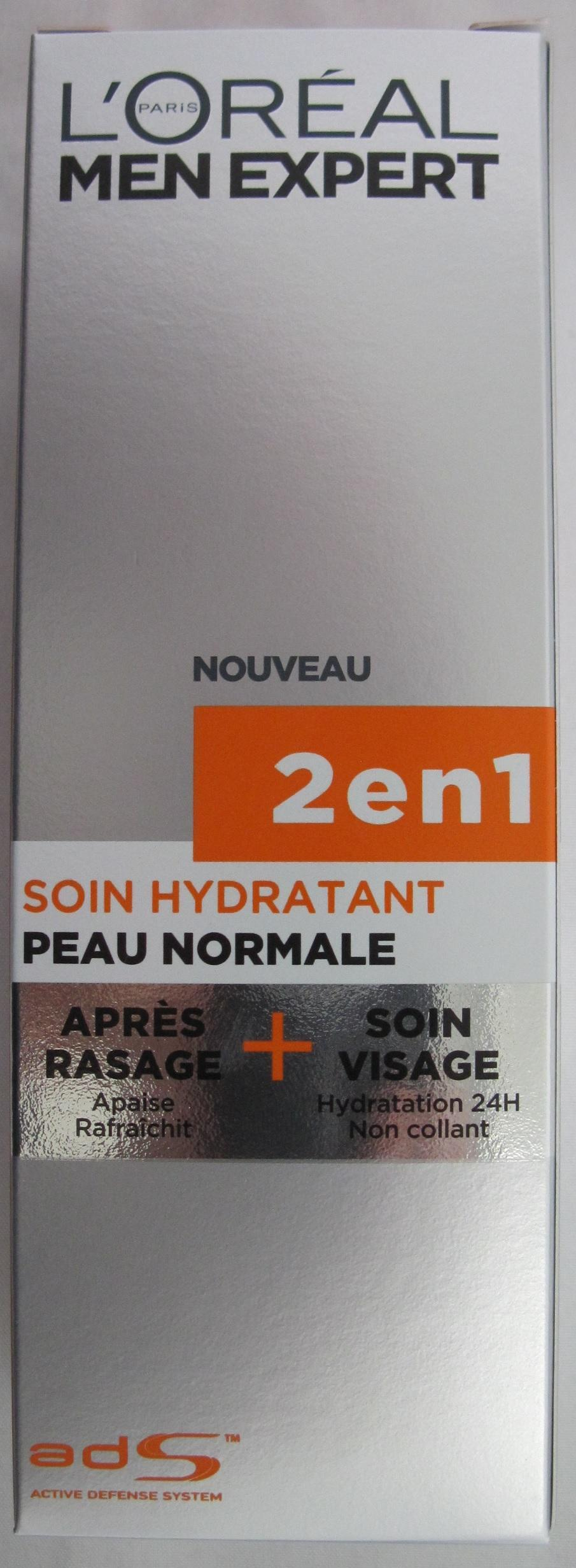L\Oreal Men Expert 2 in 1 Hydraterende Aftershave Creme Normale Huid 75ml