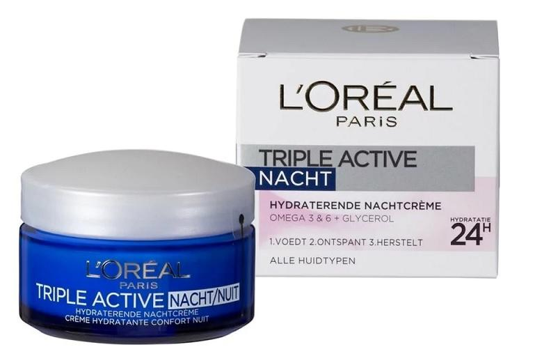 L\Oreal Nachtcrème - Dermo Expertise Triple Active - 50 ml.