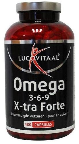 Lucovitaal Omega 3-6-9 complex X-Forte Supplement - 480 Capsules