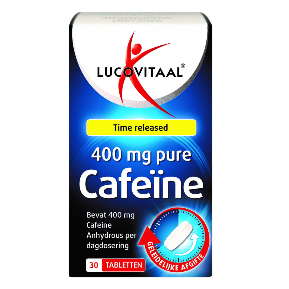 Lucovitaal Pure Cafeïne 400 mg 30 tabletten