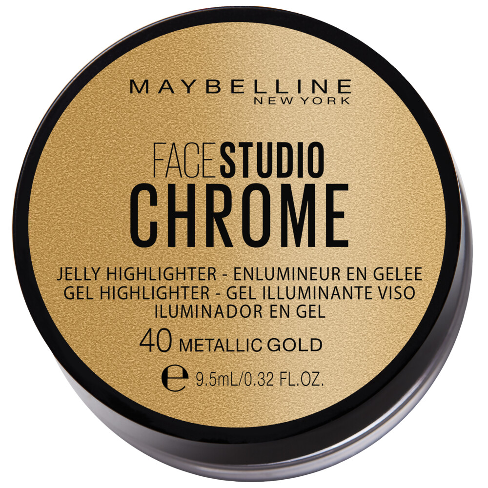 Maybelline Facestudio Chrome Jelly Highlighter 40 Metallic Gold