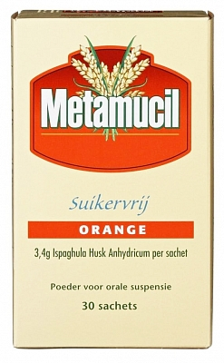Metamucil suikervrij sachets orange