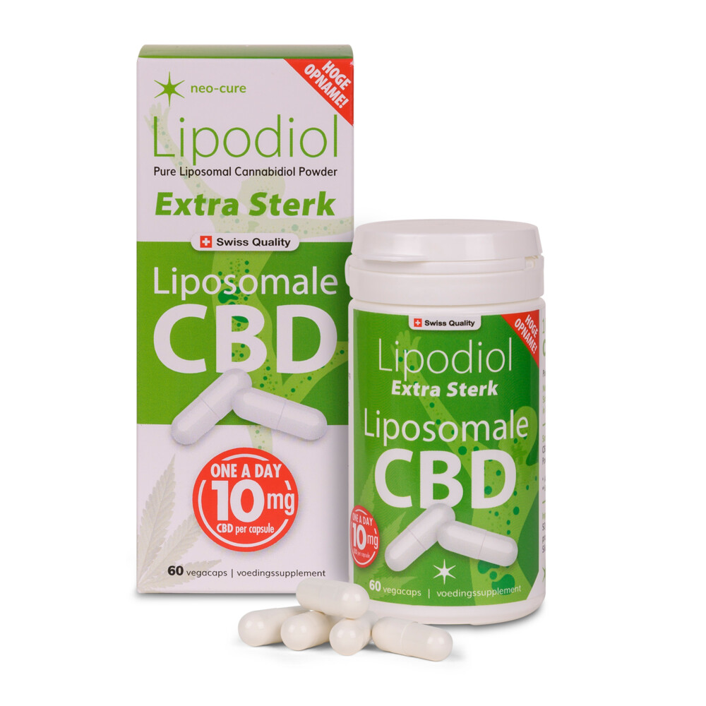 Neo-Cure Lipodiol CBD Poeder Extra sterk 10 mg 60 caps