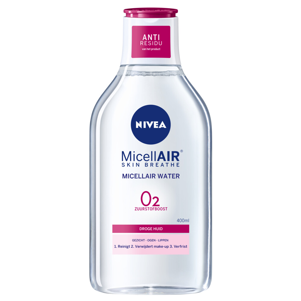 Nivea 3-in-1 Micellair Water Droge Huid 400 ml