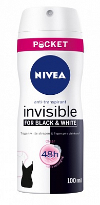 Nivea Deodorant Deospray Black And White Clear