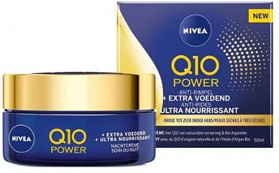 Nivea Nachtcreme Q10 Power Anti-rimpel Extra Nourishing