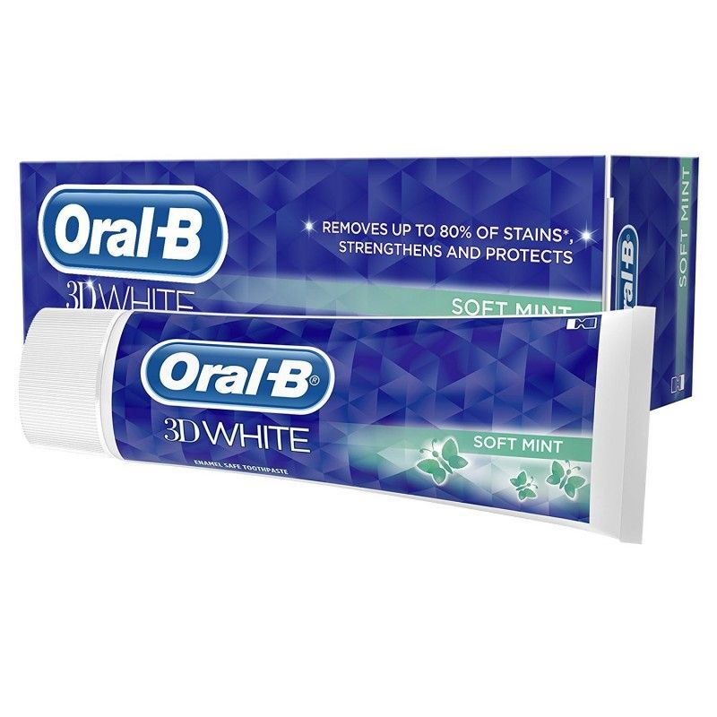 Oral-B Tandpasta - 3D White Soft Mint 75 ml