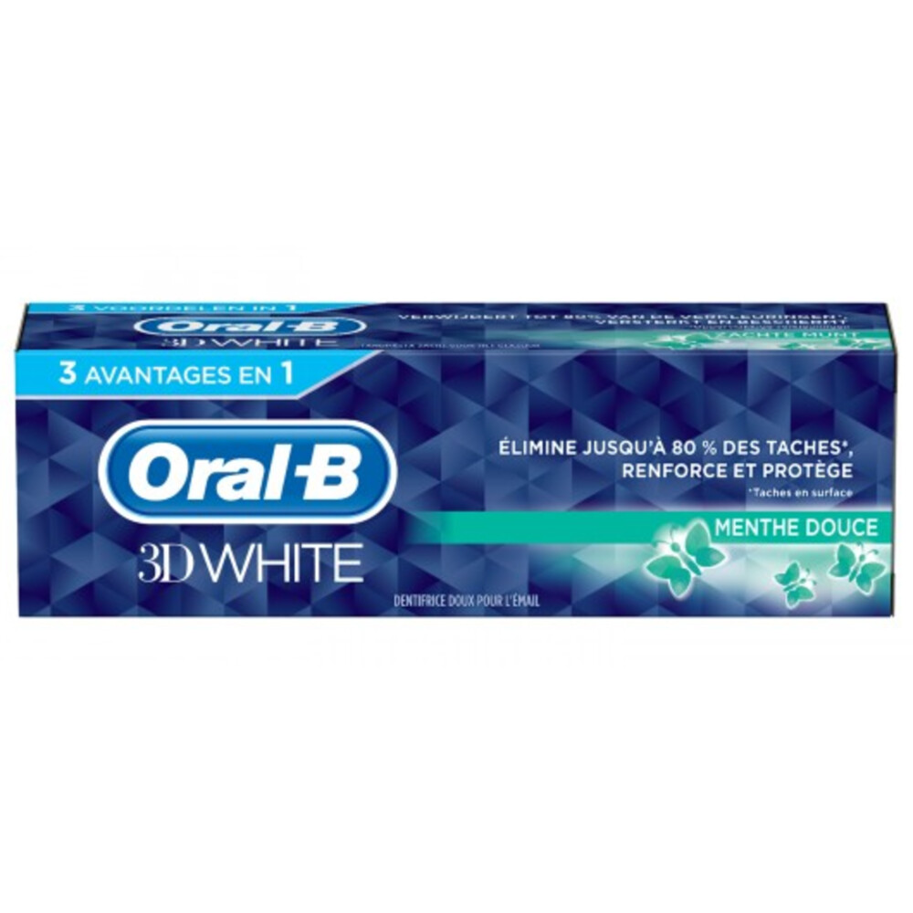 Oral-B Tandpasta 3D White Soft Mint 75 ml