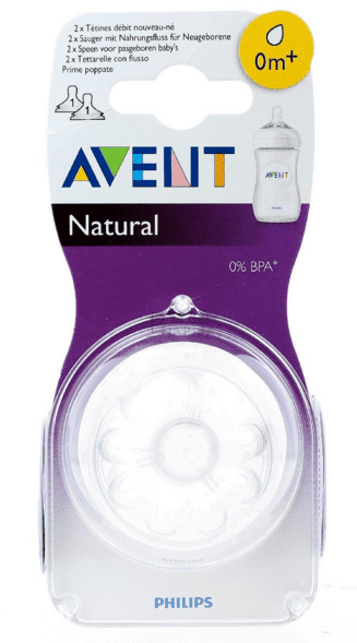Philips Avent - Zuigfles Spenen Naturel 0+maand