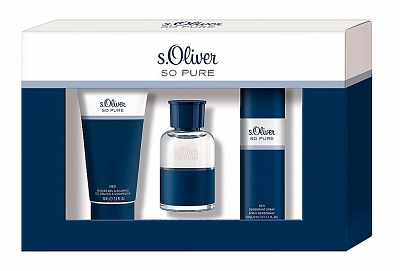 S. Oliver So Pure Men Geschenkset Edt 30ml Showergel 75mldeodorant Spray 50ml