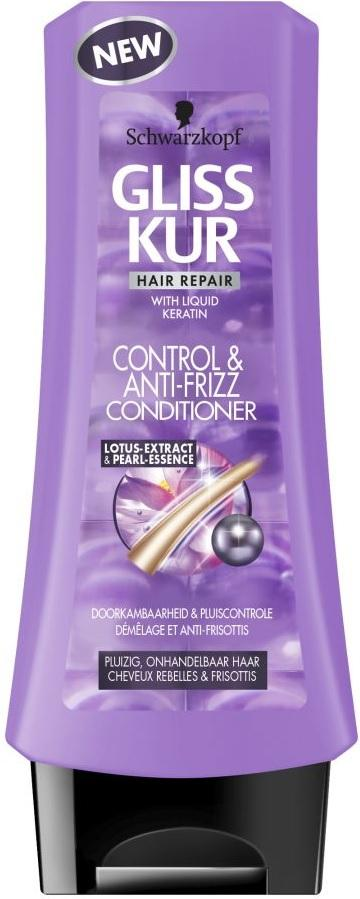 Schwarzkopf Gliss Kur Conditioner - Control & Anti-Frizz 200 ml