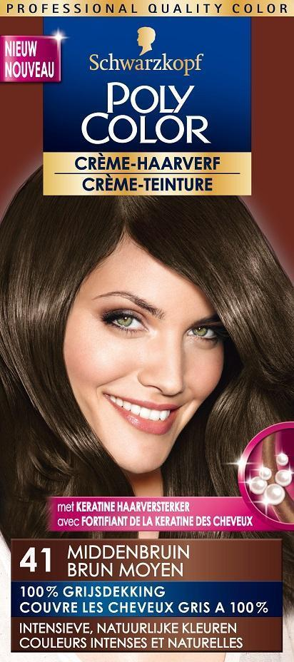 Schwarzkopf Poly Color Semi Permanente Haarverf 41 Middenbruin