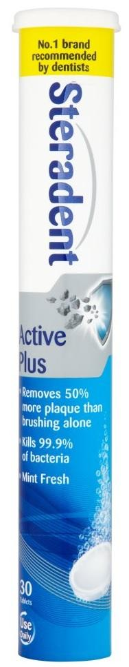 Steradent Reinigingstabletten - Active Plus 30 Tabletten