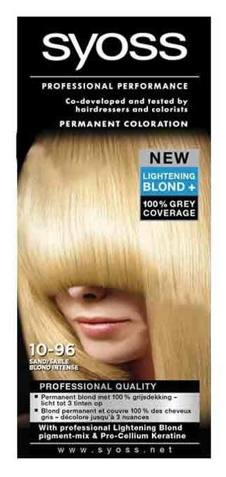 Syoss Professional Haarverf Color - Intense Blond/ Zand Nr. 10-96