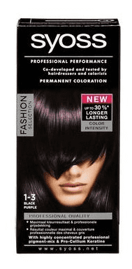 Syoss Professional Performance Haarverf - 1-3 Black Purple