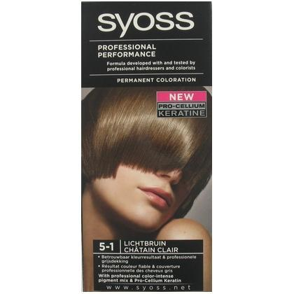 Syoss Professional Performance Haarverf 5-1 Licht Bruin