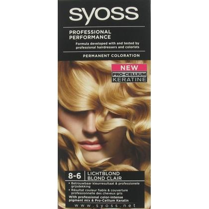 Syoss Professional Performance Haarverf 8-6 Licht Blond