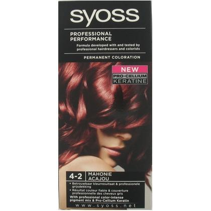 Syoss Professional Performance Haarverf nr. 4-2 Mahogany Bruin