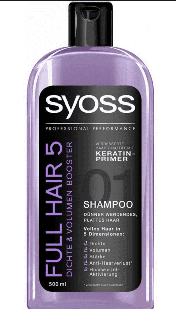 Syoss Shampoo - Full Hair5 500 ml.