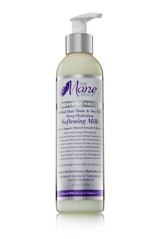 The Mane Choice Heavenly Halo Herbal Hair Tonic & Soy Milk Deep Hydration Softening Milk 237ml