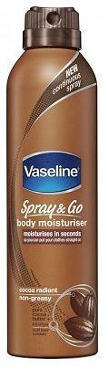 Vaseline Bodylotion Spray - Body moisturiser Cocoa Radiant 190ml
