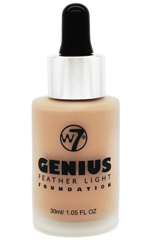W7 Genius Foundation - Natural Beige 30ml