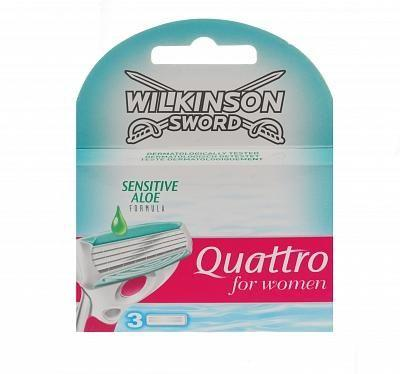 Wilkinson Quattro for Women scheermesjes Aloë Sensitive (3 st.)