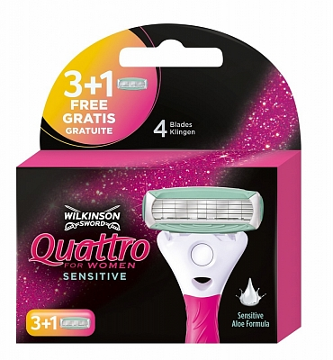 Wilkinson Sword Quattro Women Sensitive Mesjes
