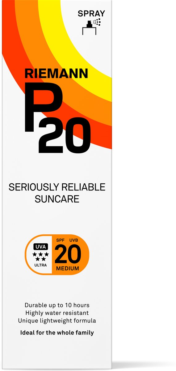 P20 - SPF 20 - 100 ml - Zonnebrandcrème - Spray