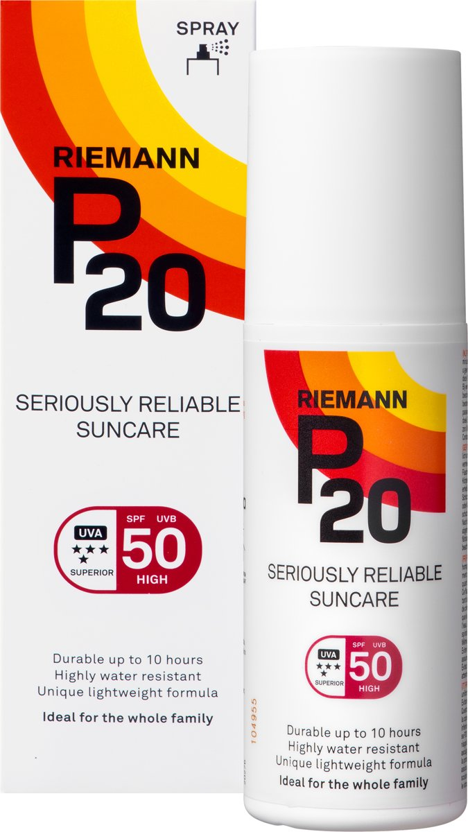 P20 - SPF 50 - 100 ml - Zonnebrandcrème - Spray