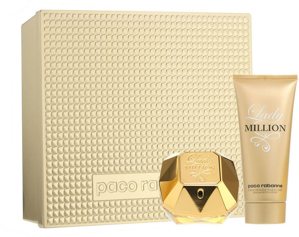 Back In Stock: Paco Rabanne Lady Million 50ml Edp Spray / 75ml Body Lotion
