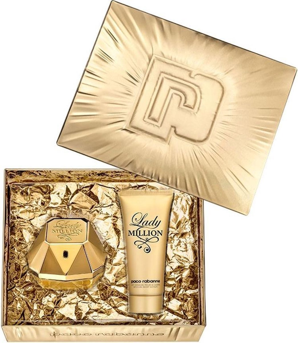 Lady Million Set 80ml EDP 100ml Body Lotion