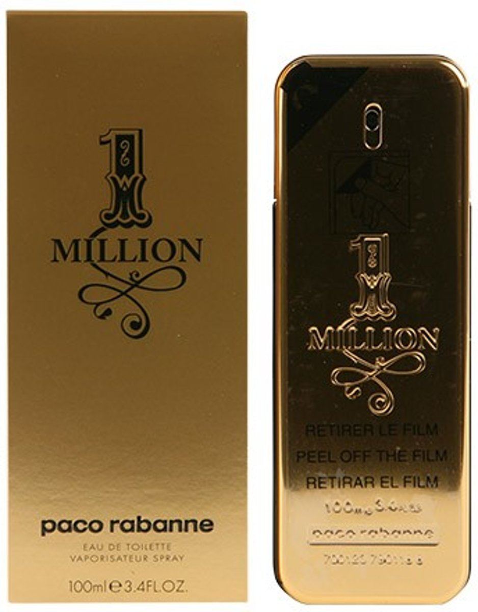 MULTI BUNDEL 2 stuks 1 MILLION Eau de Toilette Spray 100 ml