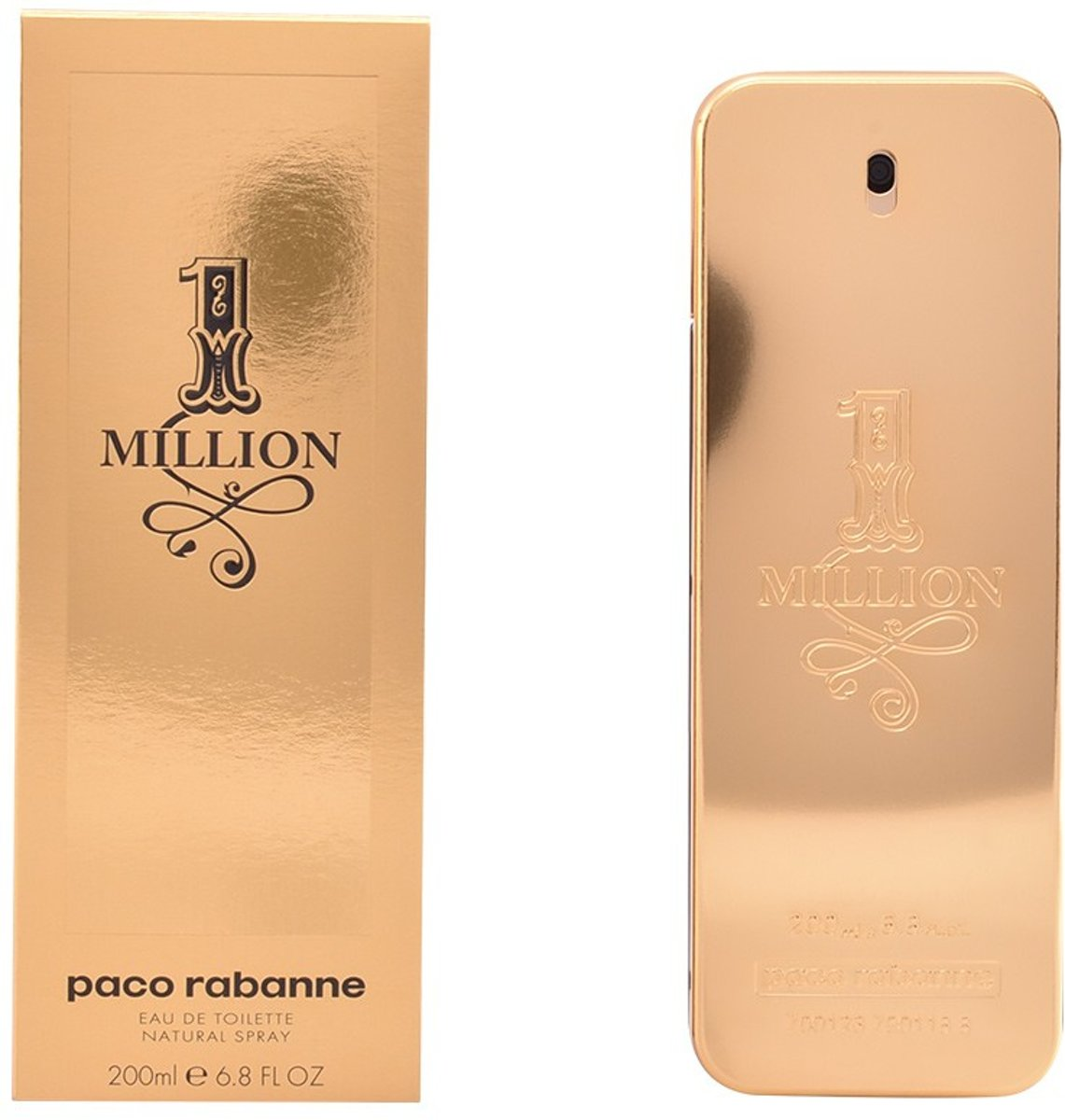 MULTI BUNDEL 2 stuks 1 MILLION Eau de Toilette Spray 200 ml