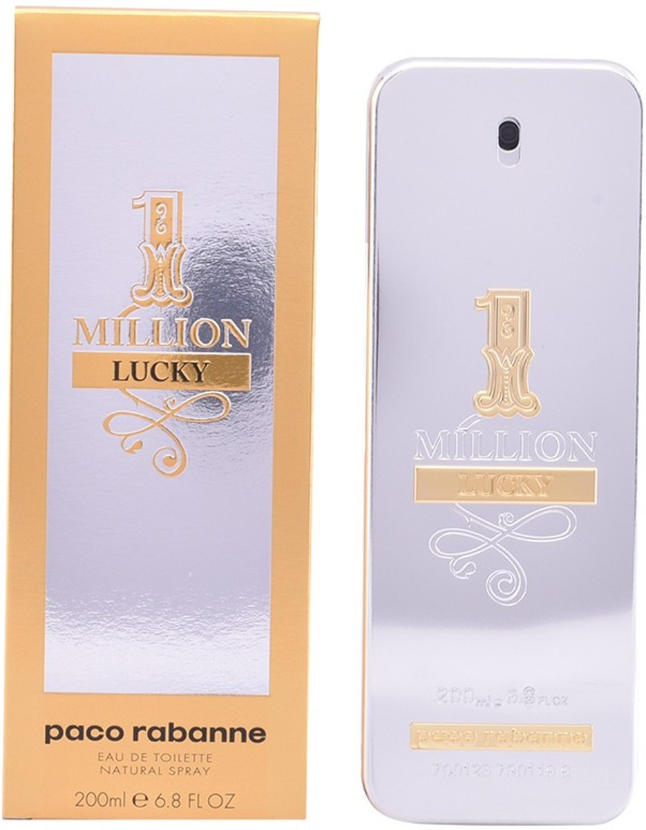 MULTI BUNDEL 2 stuks 1 MILLION LUCKY Eau de Toilette Spray 200 ml
