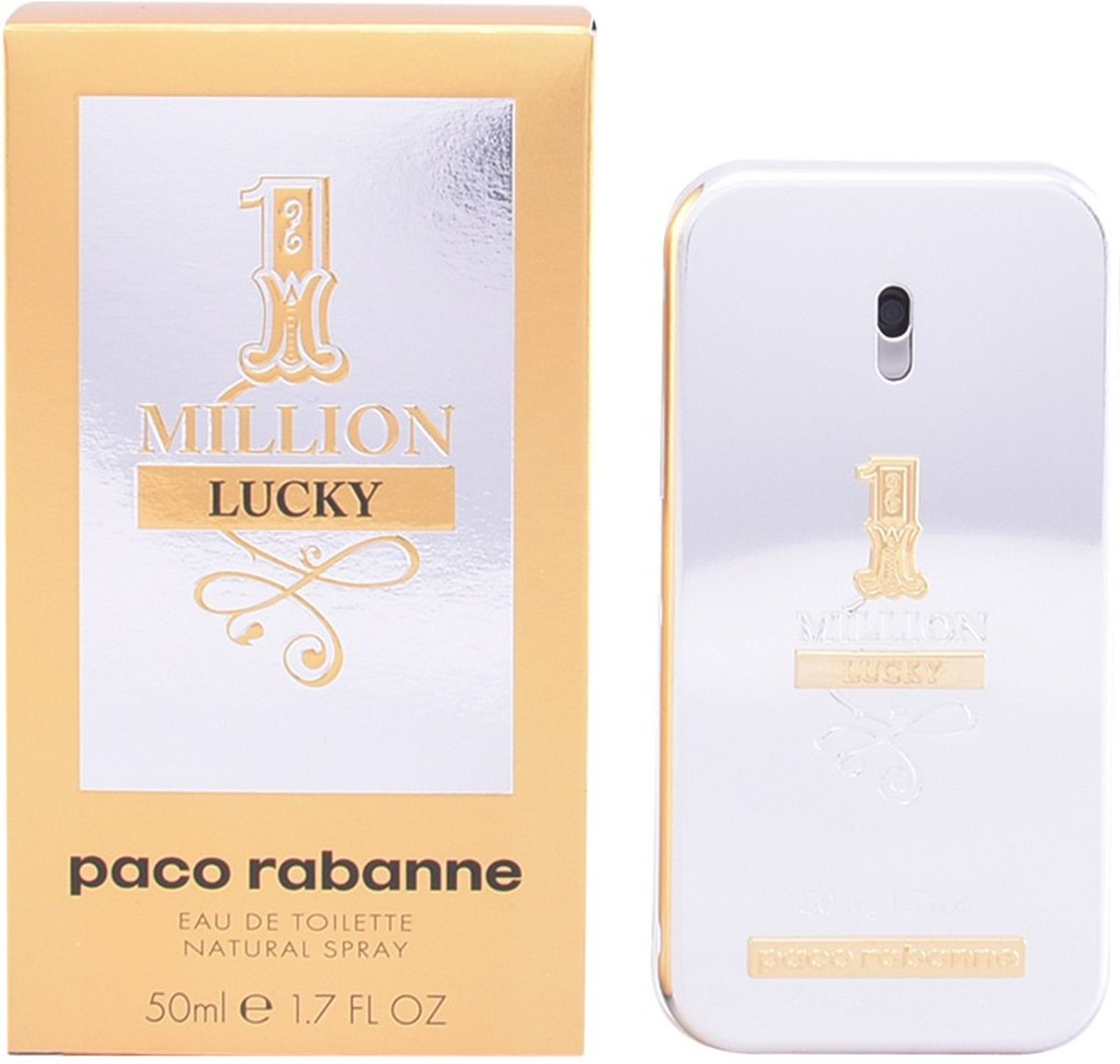 MULTI BUNDEL 2 stuks 1 MILLION LUCKY Eau de Toilette Spray 50 ml