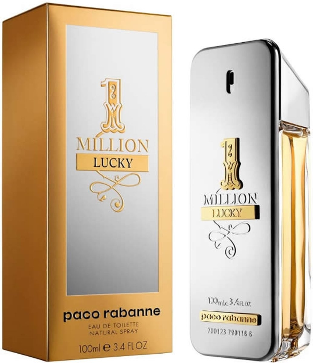 MULTI BUNDEL 2 stuks Paco Rabanne 1 Million Lucky Eau De Toilette Spray 100ml