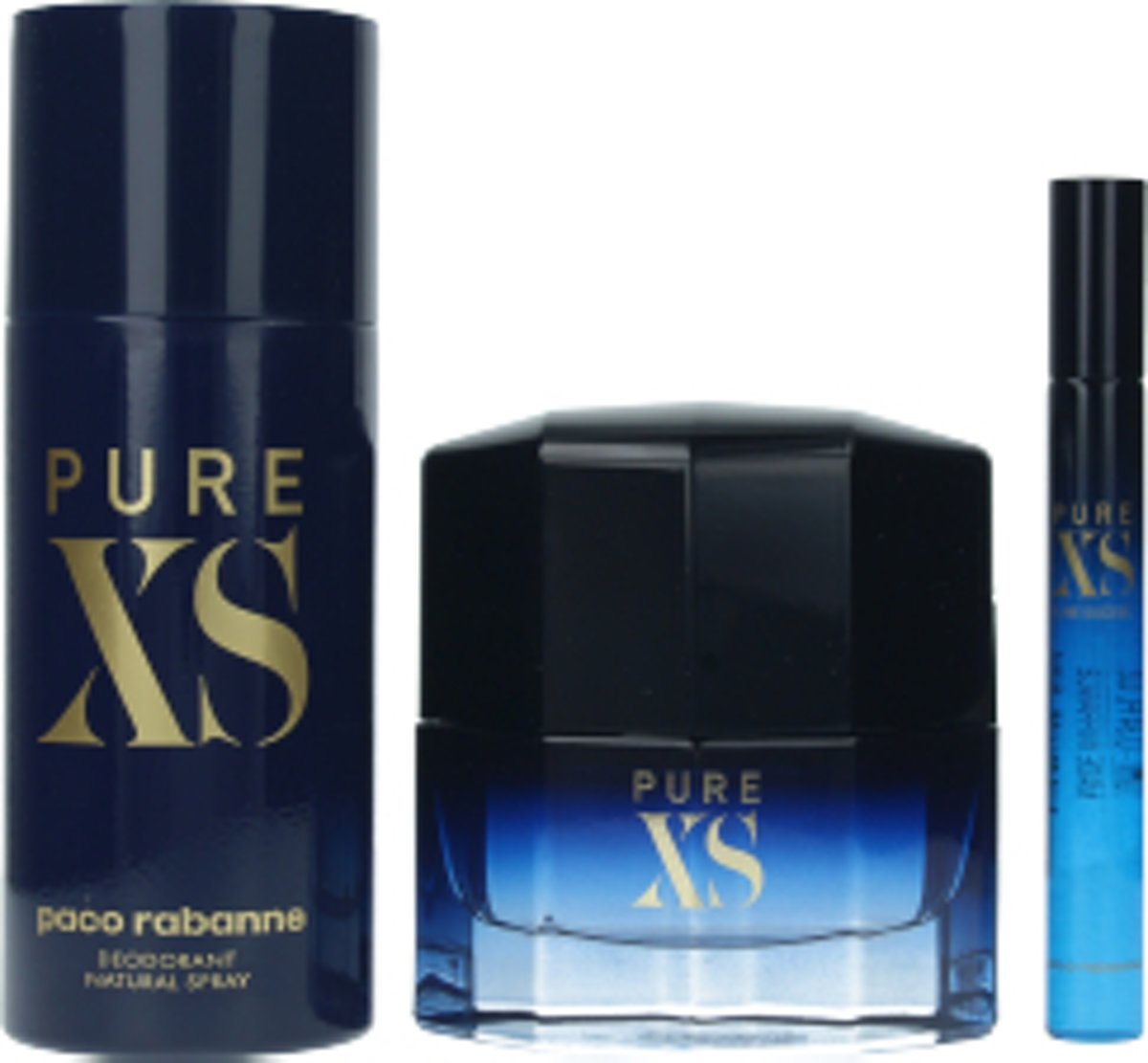 Nuxe Paco Rabanne Pure XS Eau De Toilette Spray 50ml Set 3 Pieces 2019