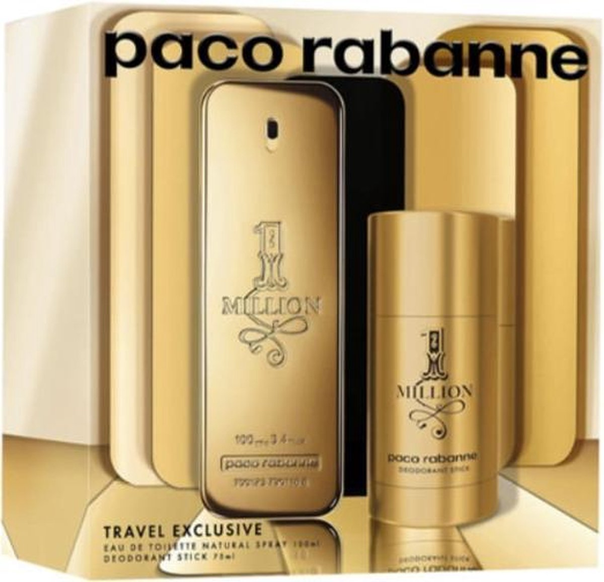 Paco Rabanne 1 Million Eau De Toilette Spray 100ml Set 2 Pieces 2020